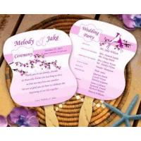 Floral and Love Birds Wedding Program Fans Manufactures