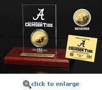 University of Alabama 24KT Gold Coin Etched Acrylic