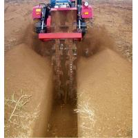 1K-120 type double ditching machine ditching effect Manufactures