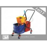 SIDE PRESS DOUBLE BUCKET MOP WRINGER TROLLEY DO-W060L Manufactures