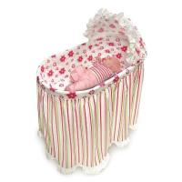 Embrace Bassinet with Stripe and Flower Bedding Set Manufactures