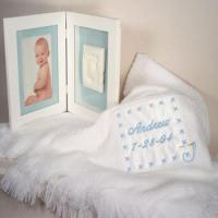 Personalized Baby Gifts Baby Blanket & Keepsake Frame Personalized Baby Boy Gift Manufactures