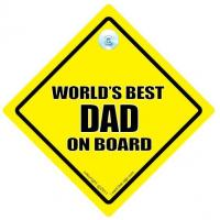 Worlds Best Dad On Board Car Sign