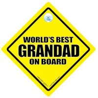 World's Best Grandad On Board Car Sign