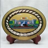 China FAW-VW Newly custom car company logo metal plate/hand painted metal car name plate on sale