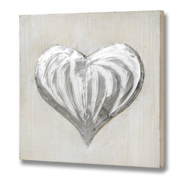 Quality Oil Painting with Aluminium Heart for sale