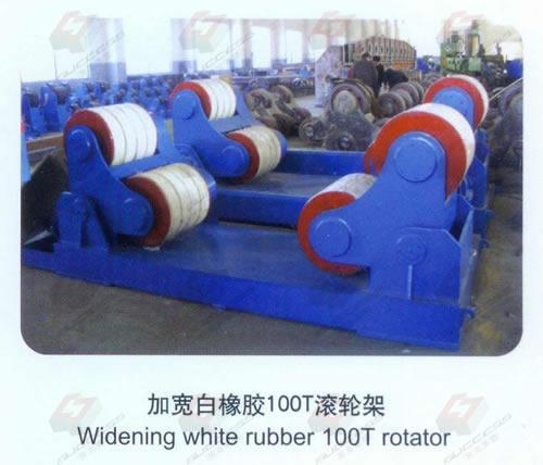 Quality Widening white rubber 100T rotator for sale