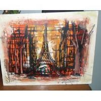Oil on Board early 1900s Paris Seen Manufactures