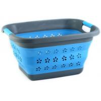 wholesale flexible foldable plastic collapsible laundry basket Manufactures