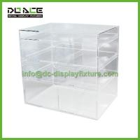 Cheap Rolling and Round rack Acrylic Cosmetics Makeup Box for sale
