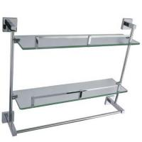 Bathroom Accessories series Product NameDouble glass shelf