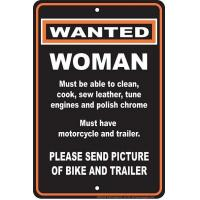 Woman Wanted Sm. Parking Sign Manufactures