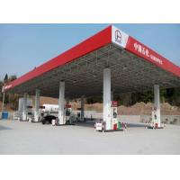 China Steel Structure Gas Station With Canopy on sale