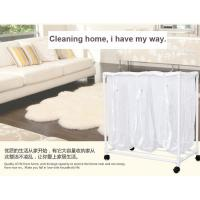 Kitchenware PVC Plastic Dirty Laundry Basket With Wheel And 3 Mesh Bags Manufactures
