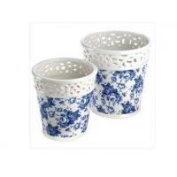 Blue Floral Planter Duo Manufactures