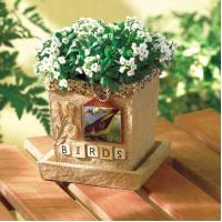 BIRDS SCRAPBOOK CACHE POT Manufactures