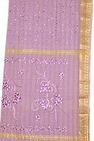 Buy cheap Light Lavender Fully Embroidered South Indian Cotton from wholesalers