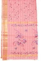 Buy cheap Light Pink Fully Embroidered South Indian Cotton from wholesalers