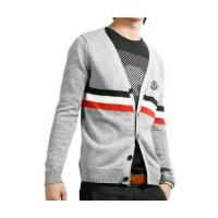 China Moncler Men Sweaters V Neck Classic Grey on sale