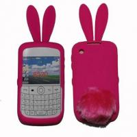 Cheap Silicon cases Rabbit protector for blackberry 8520 for sale