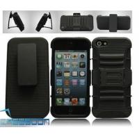 BLACK BLACK RUGGED SILICONE HEAVY DUTY CASE+BELT CLIP HOLSTER KICKSTAND Case for Apple iPhone 5 5G Manufactures