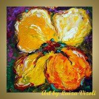 ART CURRENTLY AVAILABLE YELLOW PANSY Manufactures