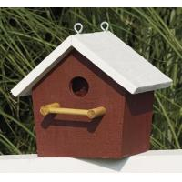 Plain Birdhouse - Red with white trim Manufactures