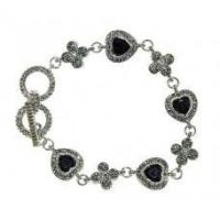 Holiday Gifts Marcasite and Jet Black Bracelet Manufactures