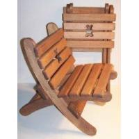 """Wooden Collapsible Beach Chair -""""Teddy Bear"""" - Brown [W-2424] Manufactures"""