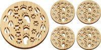 Wooden Tracks Trivet and Coasters Gift Set [MLW-66637] Manufactures