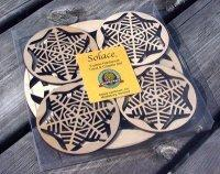 Wooden Snowflake Trivet and Coasters Gift Set [MLW-66635] Manufactures