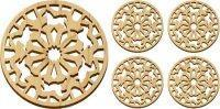 Wooden Horses Trivet and Coasters Gift Set [MLW-66615] Manufactures