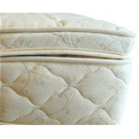 Beds and Bedding Natural Latex Mattress Topper Quilted with Organic Cotton and Wool Manufactures