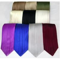 Silk Pleated Tie - 8 Colors Manufactures