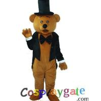 Etiquette Bear Plush Adult Mascot Costume B Manufactures