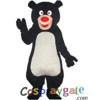 Blue Black Bear Plush Adult Mascot Costume Manufactures