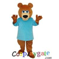 Blue T shirt Strange Bear Plush Adult Mascot Costume Manufactures