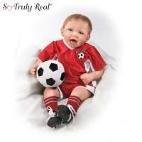 China All Star Soccer Champ: Soccer Boy Baby Doll by Bonnie ChyleModel # CT301184001 on sale