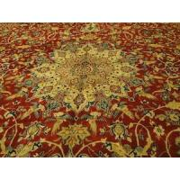 Free Shipping Oversize Persian Oriental Isfahan Medallion Birds Flower rug 10x17 Manufactures