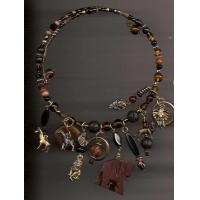 Brown African Memory Wire Choker Manufactures