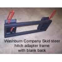 China Quick Attach Skid steer adapter hitch with blank heavy duty bar frame on sale