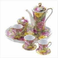 SWM 12539 Rose Garden Mini Tea Set Manufactures