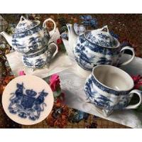 "IWDSC 01-58038 7.5"" Blue Porcelain Tea for One Manufactures"