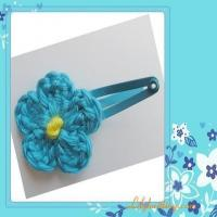 Buy cheap PATTERN  A Set of 2pc of Crocheted Haircliper FlowerHaircliper 1 from wholesalers