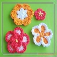 Buy cheap PATTERN  A Set of Crocheted Flower AppliqueFlower 43 from wholesalers