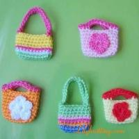 Buy cheap PATTERN  A set of Crocheted Doll Bags/Purses from wholesalers