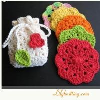 Buy cheap PATTERN  A set of 2pc Crocheted Dishcloth/Washcloth or Face clothDishcloth 1 from wholesalers