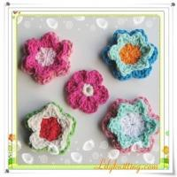 Buy cheap PATTERN  A Set of Crocheted Flower AppliqueFlower 44 from wholesalers