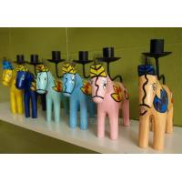 Horse wood carving candle holder Manufactures