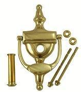 6 Inch Tall Solid Brass Traditional Door Knocker with Viewer Manufactures